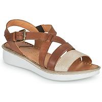 Chaussures Femme Sandales et Nu-pieds Casual Attitude ODETTE Camel / doré