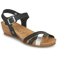 Chaussures Femme Sandales et Nu-pieds Casual Attitude OYA Noir / argenté