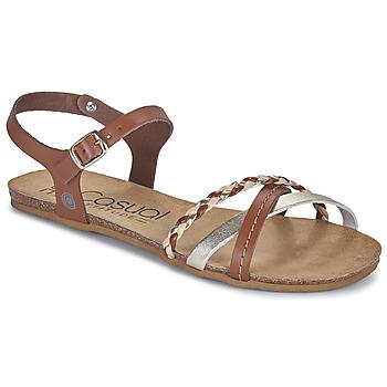 Chaussures Femme Sandales et Nu-pieds Casual Attitude ODIA Camel / doré