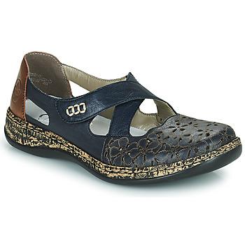 Chaussures Femme Ballerines / babies Rieker DUBLIN Bleu