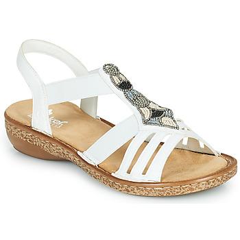 Chaussures Femme Sandales et Nu-pieds Rieker DOLNA Blanc