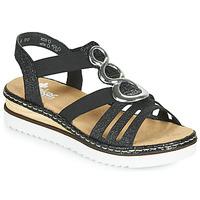 Chaussures Femme Sandales et Nu-pieds Rieker FANNI Bleu