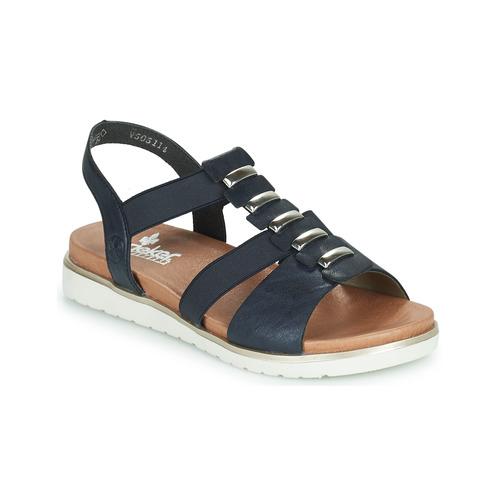 Taille 37 Rieker Femmes Sandale Trekking Cuir Bleu 42