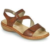 Chaussures Femme Sandales et Nu-pieds Rieker ZAZIE Marron