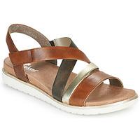 Chaussures Femme Sandales et Nu-pieds Rieker MARRO Marron / Argenté