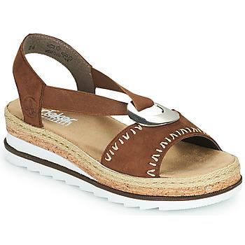 Chaussures Femme Sandales et Nu-pieds Rieker FARRO Marron
