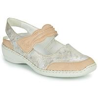Chaussures Femme Sandales et Nu-pieds Rieker ALINA Argenté