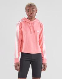 Vêtements Femme Sweats adidas Performance W 3S FT CRO HD Rose
