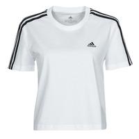 Vêtements Femme T-shirts manches courtes adidas Performance W 3S CRO T Blanc