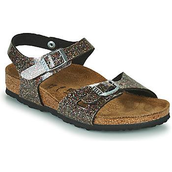 Chaussures Fille Sandales et Nu-pieds Birkenstock RIO Noir / Doré