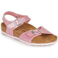 Chaussures Fille Sandales et Nu-pieds Birkenstock RIO PLAIN Rose