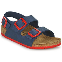Chaussures Garçon Sandales et Nu-pieds Birkenstock MILANO Bleu / Rouge