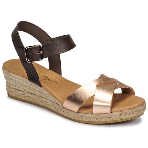 Chaussures Femme Sandales et Nu-pieds Betty London GIORGIA Marron/nude