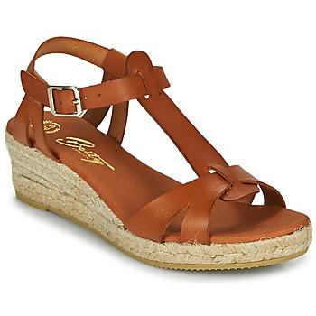 Chaussures Femme Sandales et Nu-pieds Betty London OBORSEL Cognac