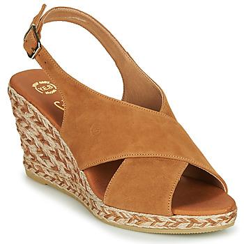 Chaussures Femme Sandales et Nu-pieds Betty London OHINDRA Cognac