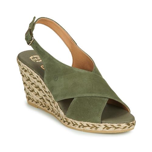 Chaussures Femme Sandales et Nu-pieds Betty London OHINDRA Kaki