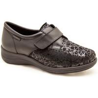 Chaussures Femme Derbies & Richelieu Calzamedi CHAUSSETTES ÉLASTIQUES DIABÉTIQUES CONFORTABLES VELCR BLACK