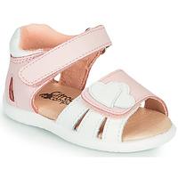 Chaussures Fille Sandales et Nu-pieds Citrouille et Compagnie OLESS Rose/blanc