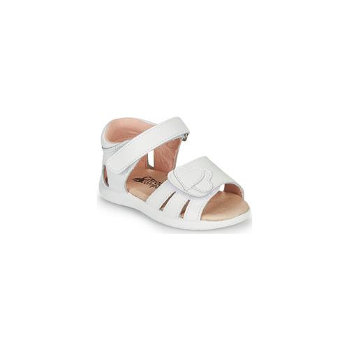 Chaussures Fille Sandales et Nu-pieds Citrouille et Compagnie OLESS Blanc