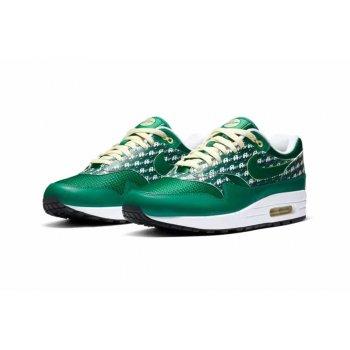 Chaussures Baskets basses Nike Air Max 1 Powerwall Limonade PINE GREENPINE GREEN-TRUE WHITE