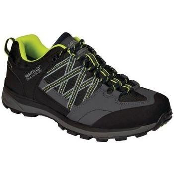 Chaussures Homme Randonnée Regatta Samaris Noir/vert fluo
