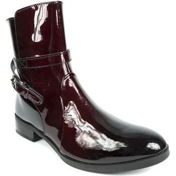 Chaussures Femme Bottines Couleur Pourpre 1339 Bordeaux