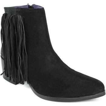 Chaussures Femme Bottines Couleur Pourpre 1311 Noir