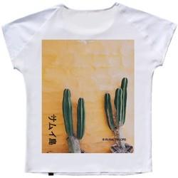 Vêtements Femme T-shirts manches courtes Ko Samui Tailors Mexico - T-shirt en soie  dos de soie - Blanc Blanc