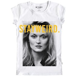 Vêtements Femme T-shirts manches courtes Ko Samui Tailors T-Shirt Meryl Noir et Blanc Blanc Blanc  KSUTB Blanc