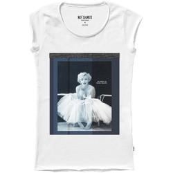 Vêtements Femme T-shirts manches courtes Ko Samui Tailors T-Shirt Marilyn Monroe Shine Blanc  KSUTA 520 Blanc