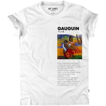 Vêtements Femme T-shirts manches courtes Ko Samui Tailors T-shirt Paul Gauguin Art blanc  KSUTB 336 PAU Blanc