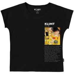 Vêtements Femme T-shirts manches courtes Ko Samui Tailors T-shirt noir de lArt Symboliste  KSUTE C38 SY Noir