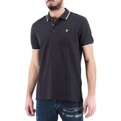 Vêtements Homme Polos manches courtes Lyle & Scott Lyle  Scott  Polo a empiecements en nylon noir  LYSMLS Noir
