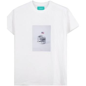 Vêtements Homme T-shirts manches courtes Backsideclub T-Shirt argent blanc  BSCTH 118 SILVER WH Blanc