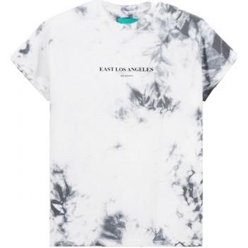 Vêtements Homme T-shirts manches courtes Backsideclub T-shirt a cadre Tie Dye Violet  BSCTHTD 1 Gris