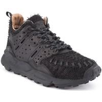Chaussures Homme Baskets basses Flower Mountain Sneaker Mustard Walnut noir  FWM001 20 Noir