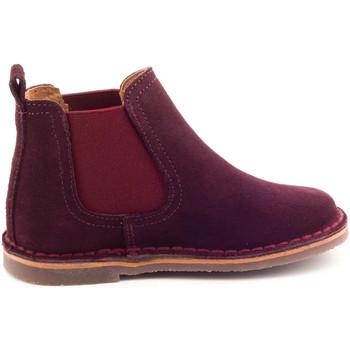 Chaussures Enfant Boots Boni & Sidonie Boots à enfiler en daim - BENOIT bordeaux