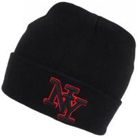 Accessoires textile Bonnets Hip Hop Honour Bonnet NY Noir et Rouge en Laine Broderie 3D Fashion Farzy Noir