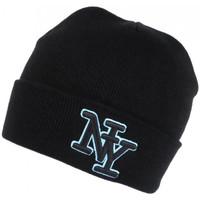 Accessoires textile Bonnets Hip Hop Honour Bonnet NY Noir et Bleu Ciel en Laine Broderie 3D Fashion Farzy Noir