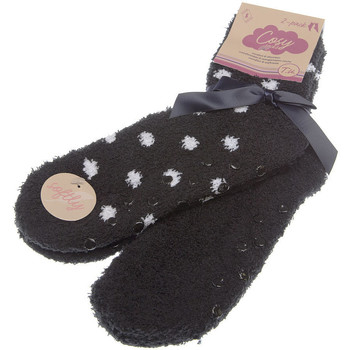 Accessoires Femme Chaussettes Intersocks Chaussettes Courtes - HOMESOCKS SOFTLY MULTI Noir