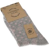 Accessoires Femme Chaussettes Intersocks Chaussettes Courtes - Viscose - LADY CASHMERE WINTER Gris