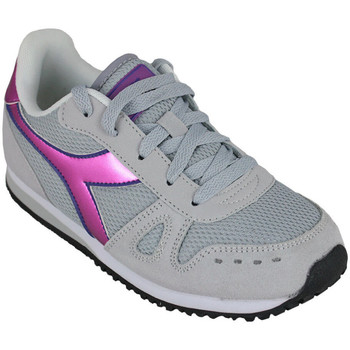 Chaussures Fille Running / trail Diadora simple run gs girl 65010 Rose