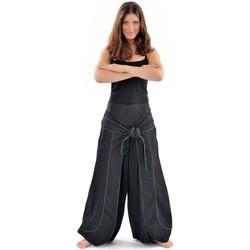 Vêtements Femme Pantalons fluides / Sarouels Fantazia Pantalon Zen cache-tresor Noir et kaki Noir