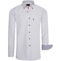 Vêtements Femme Chemises / Chemisiers Cappuccino Italia Regular Fit Overhemd Wit Checked Blanc