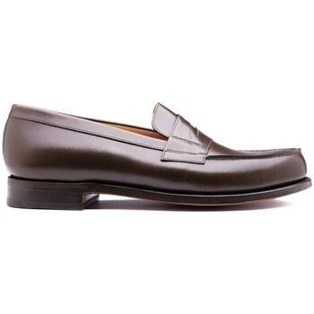 Chaussures Homme Mocassins Finsbury Shoes COLLEGE Marron foncé