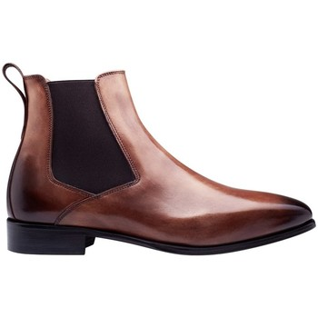 Chaussures Homme Boots Finsbury Shoes BORGHESE Marron clair