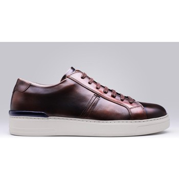 Chaussures Homme Baskets basses Finsbury Shoes RIVA Marron