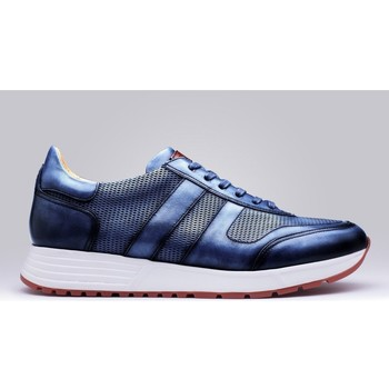 Chaussures Homme Baskets basses Finsbury Shoes MACEO Bleu