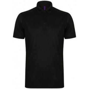 Vêtements Homme Polos manches courtes Henbury HB460 Noir