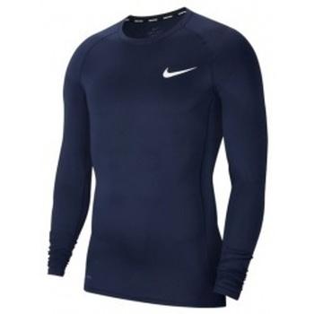 Vêtements Homme Sweats Nike Pro Longsleeve bleu